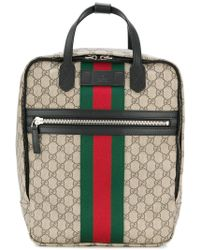 bb4777bcbf4 Lyst - Gucci Web Animalier Backpack With Bee for Men