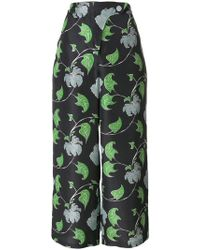 Christian Wijnants - Cropped Printed Trousers - Lyst