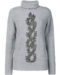 Jo No Fui - Embellished Turtle Neck Jumper - Lyst