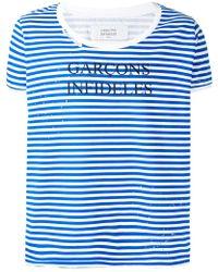 Garçons Infideles - Striped Logo T-shirt - Lyst