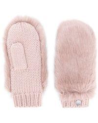 Urbancode - Fur Panel Gloves - Lyst