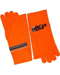92d48efd5bb73 Prada - Handschuhe mit Logo-Print - Lyst