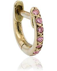 Ileana Makri - Rose Gold Mini Hug-hoop Earrings - Lyst