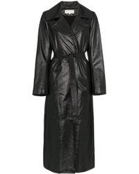 SKIIM - Karla Leather Trench Coat - Lyst
