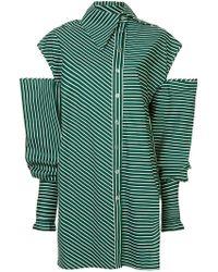 ANOUKI - Long Cut Out Shirt - Lyst