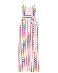 All Things Mochi - Lisa Embroidered Wide Leg Jumpsuit - Lyst