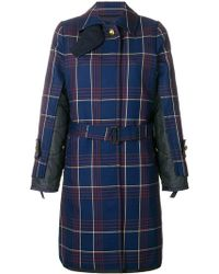 Sacai - Plaid Trench Coat - Lyst