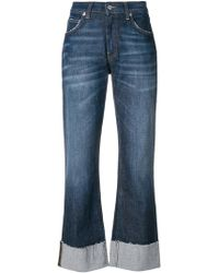 Department 5 - Faded Cropped Jeans - Lyst