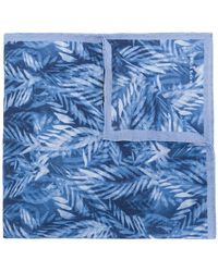 Kiton - Palm Print Handkerchief - Lyst