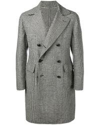 Tagliatore - Glen Plaid Midi Coat - Lyst