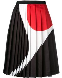 Neil Barrett | Geometric Print Pleated Skirt | Lyst