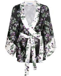 Blumarine - Floral Wrap Kimono - Lyst