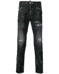 DSquared² - Skater Distressed Jeans - Lyst