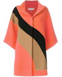 Emilio Pucci - Block Colour Cape Coat - Lyst