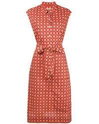 Burberry - Button-down Printed Dress - Lyst