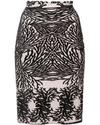 Yigal Azrouël - Coral Reef Burnout Pencil Skirt - Lyst