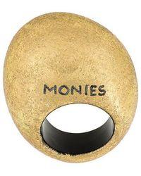 Monies - Brand Embossed Ring - Lyst