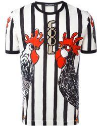 Dolce & Gabbana - Rooster Print T-shirt - Lyst