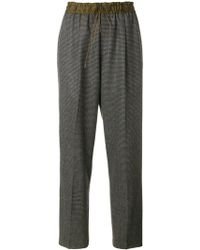 Pas De Calais - Patterned Straight Trousers - Lyst