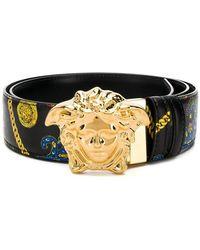 Versace - Cintura con testa di Medusa - Lyst