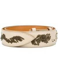 Acne Studios - Embroidered Leather Belt - Lyst