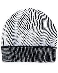 Lyst - Maison Margiela Distressed Ribbed Knit Beanie in Green for Men 23643310635e