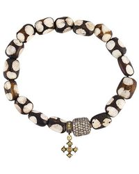 Loree Rodkin | Beaded Diamond Charm Bracelet | Lyst