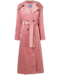 ALEXACHUNG - Double Breasted Corduroy Coat - Lyst