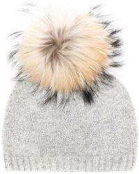 Philipp Plein - Raccoon Fur Pompom Beanie - Lyst