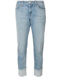 J Brand - Cropped Straight-leg Jeans - Lyst