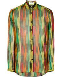 Saint Laurent - Graphic Brush Stroke Shirt - Lyst