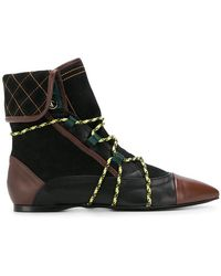 Carven - Flat Ankle Boots - Lyst