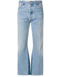 RE/DONE - Jeans mit Fransen - Lyst