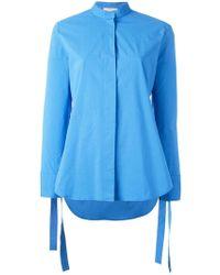 Erika Cavallini Semi Couture - Strings Plain Shirt - Lyst
