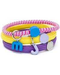Marc Jacobs - Logo Triple Bracelets - Lyst