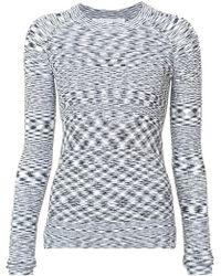 Veronica Beard - Geometric Patterned Knit Top - Lyst