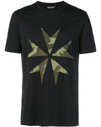 Neil Barrett - Camouflage Printed T-shirt - Lyst