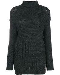 Simone Rocha - Patchwork Turtleneck Sweater - Lyst