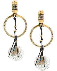 Camila Klein - Embellished Hoop Earrings - Lyst