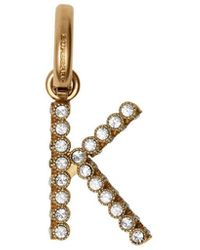 Burberry Crystal 'k' Alphabet Charm