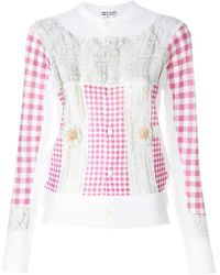 Comme des Garçons - Checked Buttoned Up Sweater - Lyst