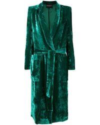 Erika Cavallini Semi Couture - Belted Velvet Coat - Lyst