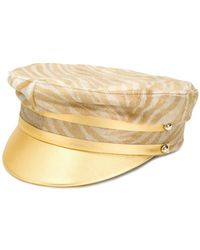Manokhi - Zebra Print Drivers Hat - Lyst