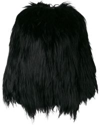 Numerootto - Furry Detail Coat - Lyst