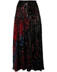 Talbot Runhof - Sequined Midi Skirt - Lyst