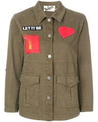 Alice + Olivia - Patch Military Jacket - Lyst