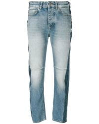 Golden Goose Deluxe Brand   Stripe Detail Cropped Jeans   Lyst