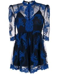 Alice McCALL - Sheer Embroidered Playsuit - Lyst