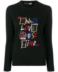 Love Moschino - Jersey Think con diseño bordado - Lyst