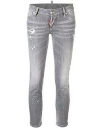 DSquared² - 'Jennifer' Cropped-Jeans - Lyst